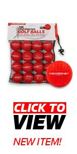Take these PowerNet Foam Training Golf Balls to train at home in your backyard or at a park.