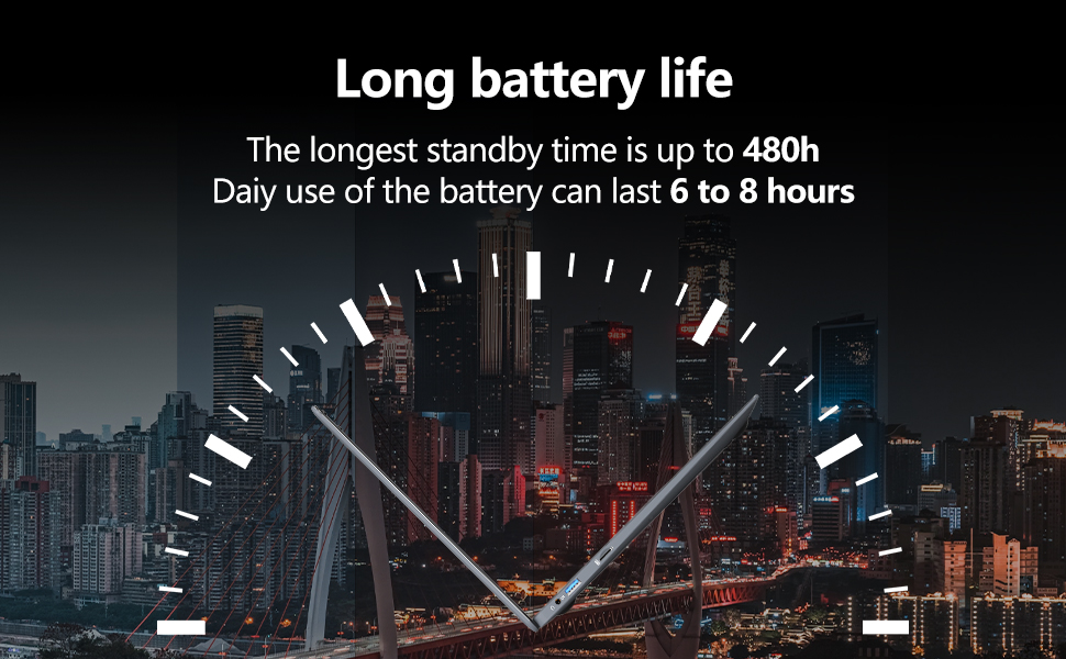long stand by time laptop