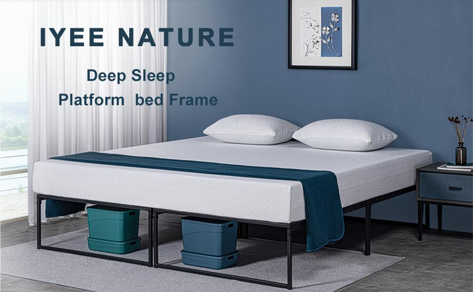 twin queen heavy duty  king full size platform bed metal frame box springs 14 inch