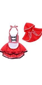 little red riding costume baby girl
