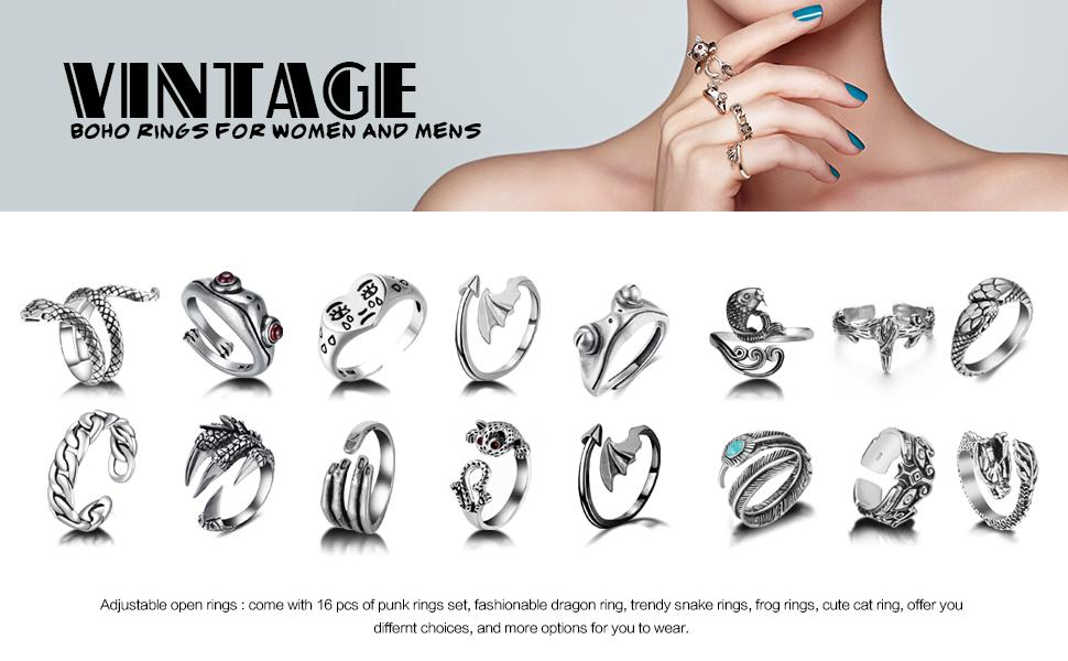 cute frog ring, snake ring, cat ring, chain, fish, leaf, bird, and so many choices for you
