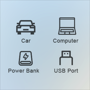 USB type c cable, car, power bank