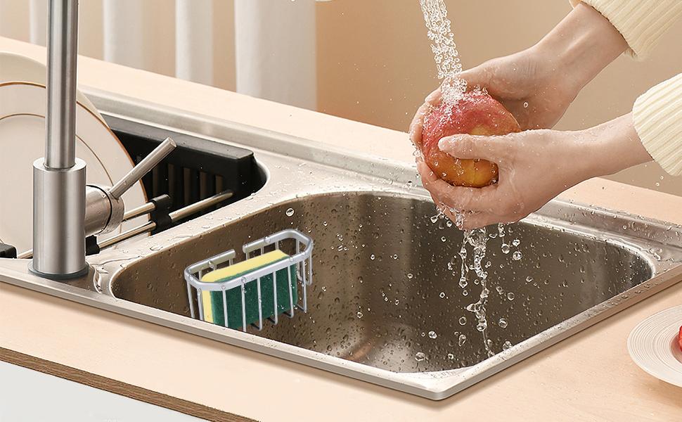 kitchen sponge holder for sink
