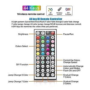 44-key IR remote