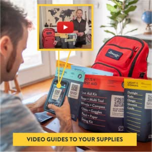 Complete Earthquake Bag - 3 Day Emergency kit for Earthquakes, Hurricanes, Wildfires, Floods