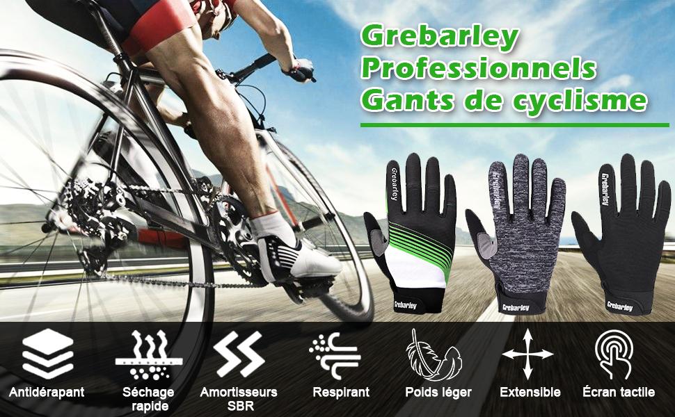 Vert Gants de cyclisme vélo cycliste cycle en cuir rembourré pour grip UK PP