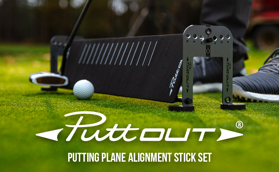 PuttOUT Putting Plane Alignment Stick Set