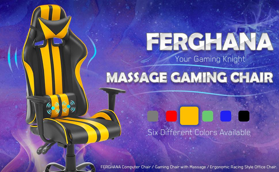 ferghana gaming chair massage gaming chair office chair video gaming chair for teens adults gift