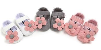 flowers baby girl shoes