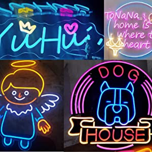 Add neon shape on your sign