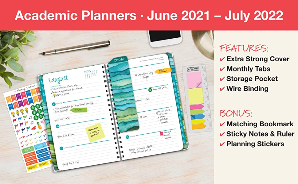 Academic Hard Cover Fashion Planners – June 2021 - July 2022