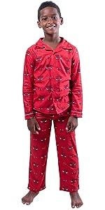 Ultra Game NBA Boys Pajamas 2 Piece Pjs Flannel Sleepwear Set