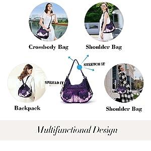 Multifunctional Women Hobo Backpack