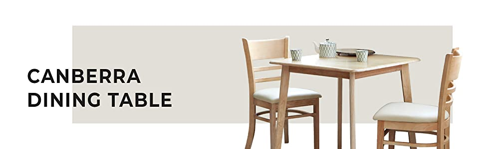 Canberra solidwood dining table for 2 people