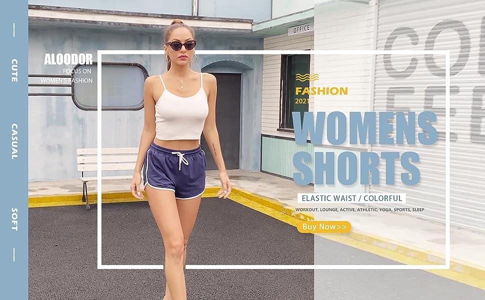 womens shorts cute workout shorts solid lounge shorts