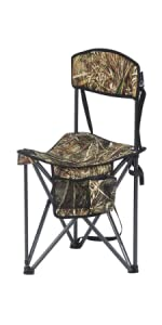 Quick Folding Tripod Stool with Backrest Fishing Camping Chair with Carry Strap