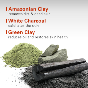 Amazonian Clay, White charcoal, Green Clay