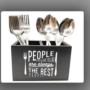 Ekdodhai Bon Appetit Cutlery & Tissue Holder SPN-FOR1