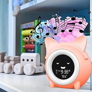 ok to wake clock toddler alarm clock children sleep trainer sleep sound machine