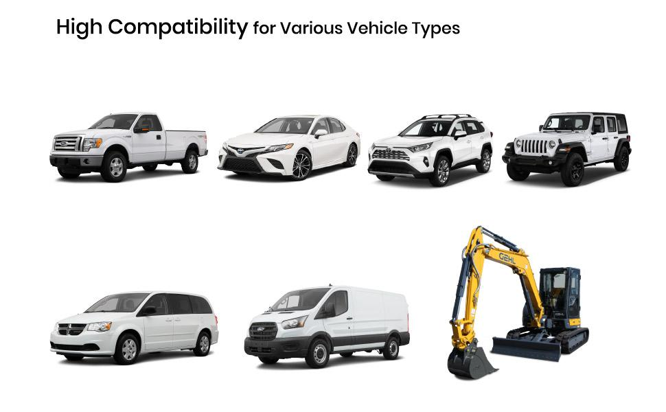 High Compatibility for cars