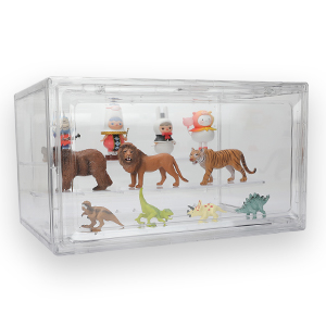 Display Toy Figurines in Cabinet