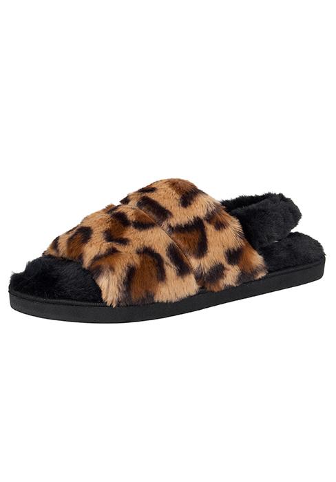 jessica simpson faux fur sling back slipper