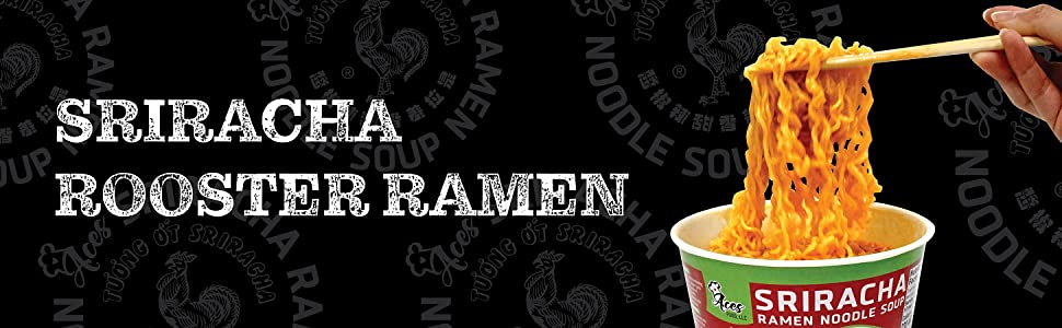 Sriracha rooster ramen huy fong noodle soup original flavor