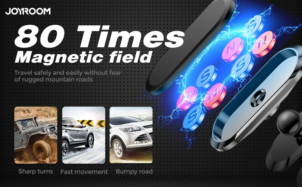 80 times N52 Magenetic field,travel safely and easily without fear of rugged mountain roads