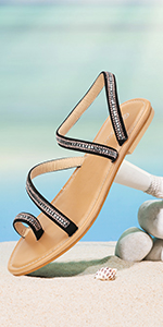 gracosy Flat Sandals for Women