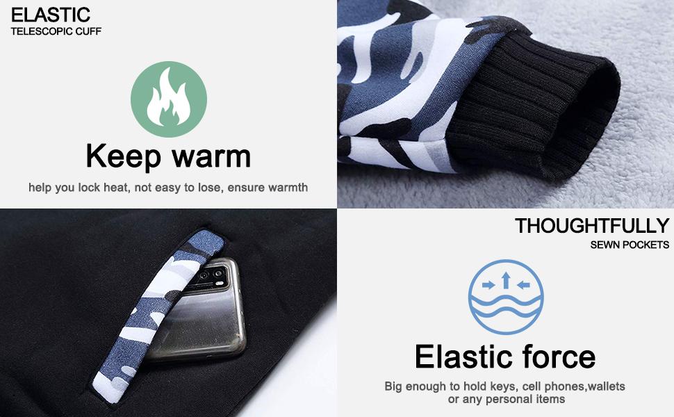 Men's Winter Heavyweight Fleece Sherpa Lined Zipper Hoodie Sweatshirt Jacket