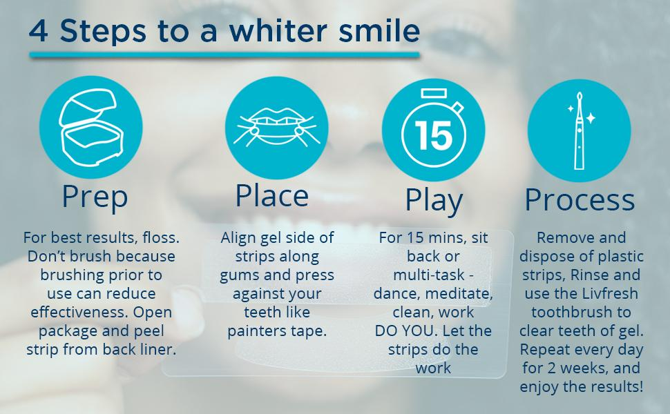 4 steps to a whiter smile