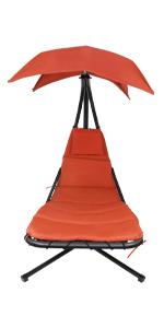 Patio hammock chair poolside louger  garden chaise canopy stand cushion seat hanging chair