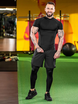 men's running gym workout shorts