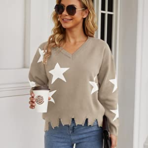 Ripped Pullover Sweaters