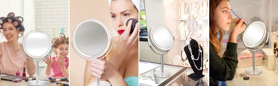 Use magnifying mirror anywhere