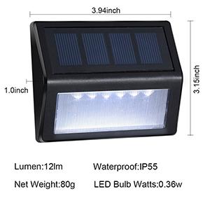 outdoor solar step lights