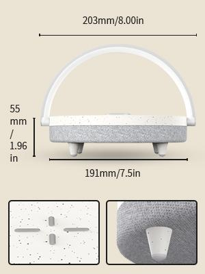 lightweight lamp with Bluetooth speaker