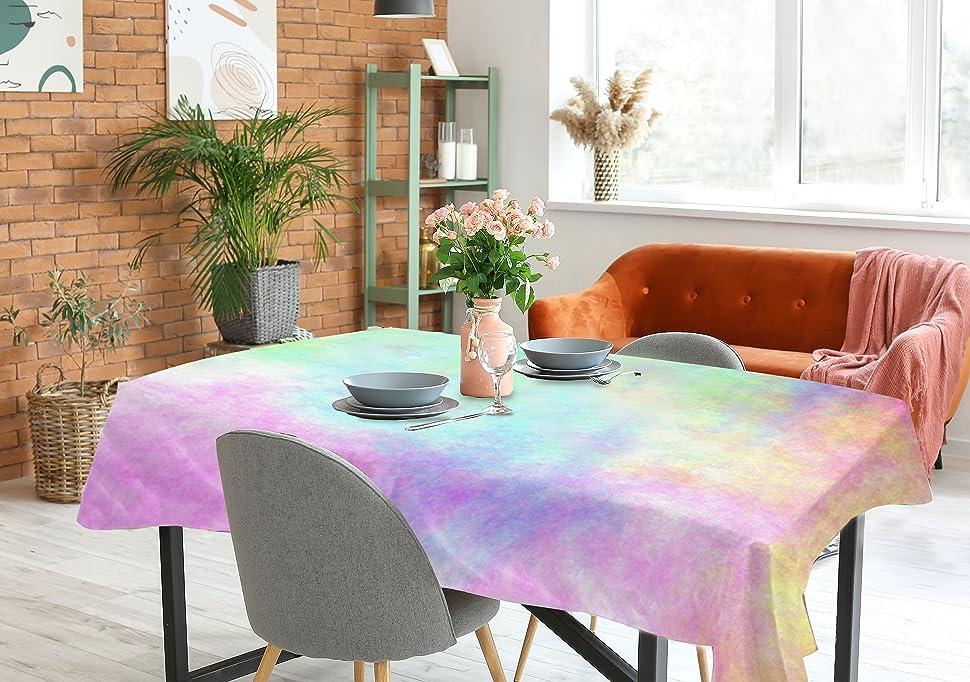 tie dye table cloth