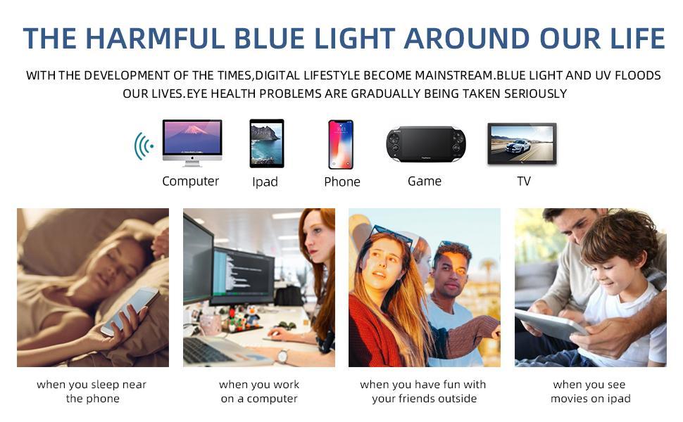 blue light everywhere