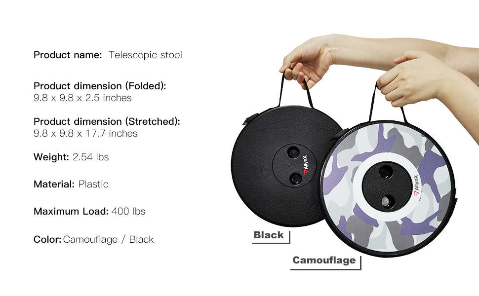 telescoping stool simple easy Portable lightweight