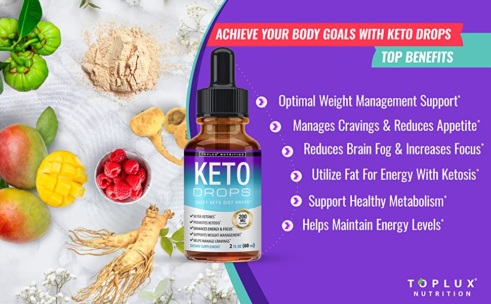 Keto drops toplux supplement weight energy