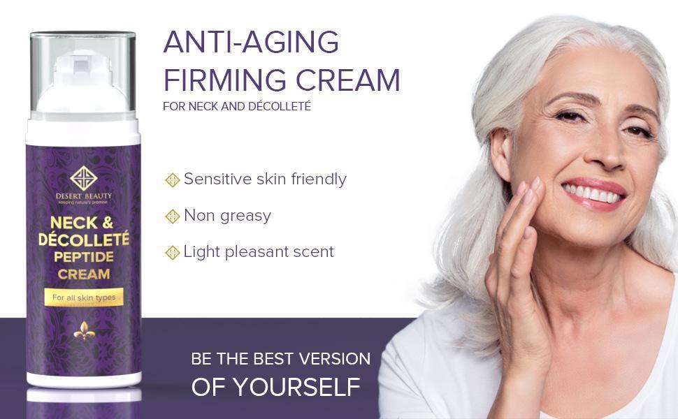 sensitive skin friendly, non greasy, light pleasant scent, anti-aging firming cream