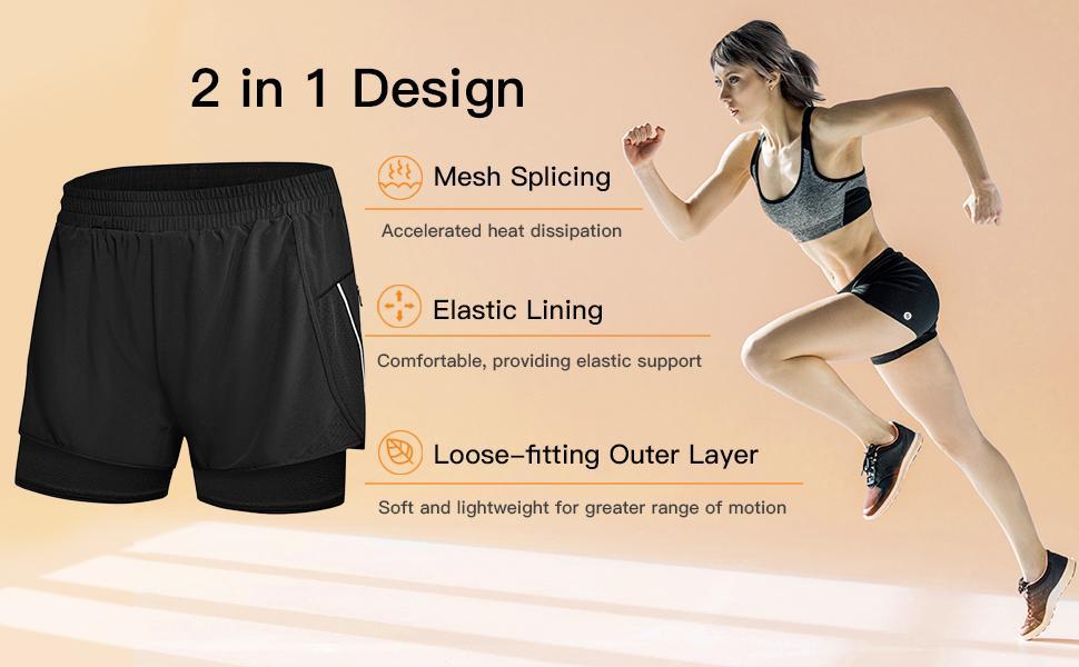 sport shorts womens, ladies running shorts