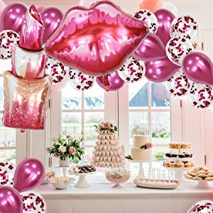 spa makeup theme birthday party supplies