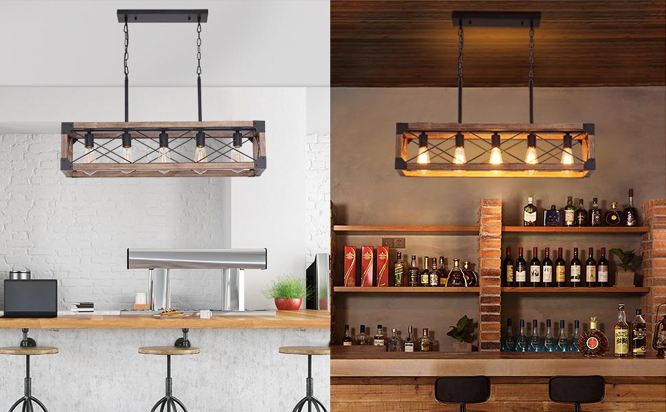 33.5 inch Dining Room Chandelier, 5 Light Kitchen Pendant Lighting,Island Lighting, Pool Table Light