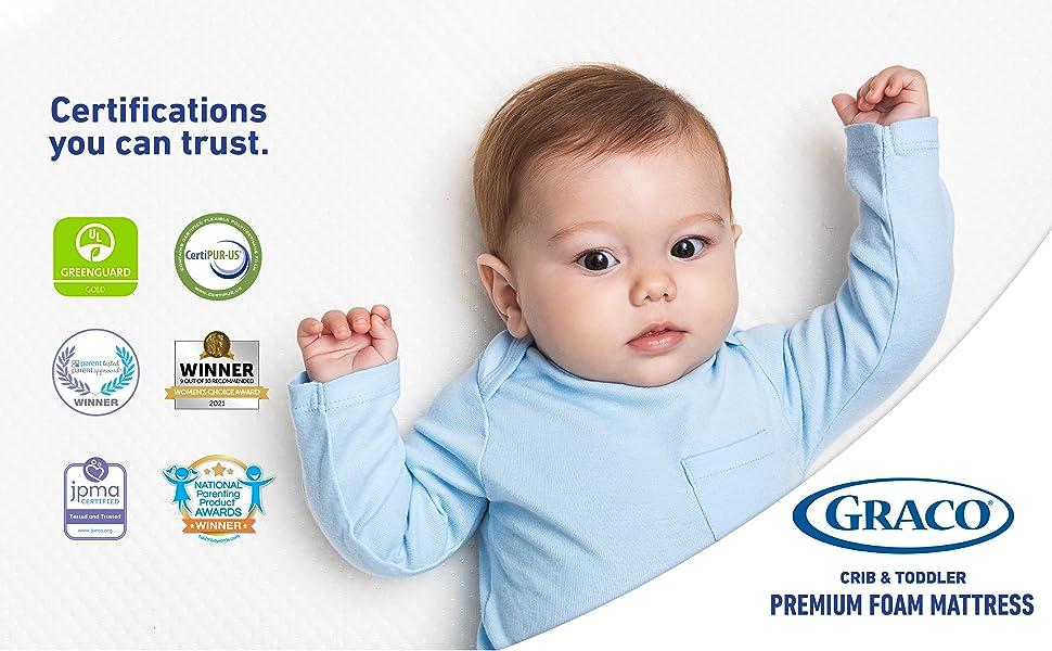 Graco Crib and Toddler Premium Foam Mattress