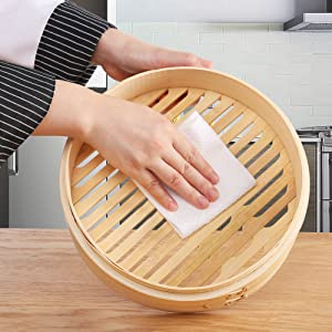 chinese steamer bamboo 10 inch professional steamer japanese cookware 2 tier stackable baskets