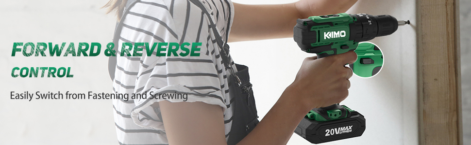 Kimo cordless drill driver set battery drill power tool power drill