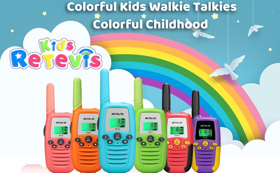 Colorful Kids walkie talkies