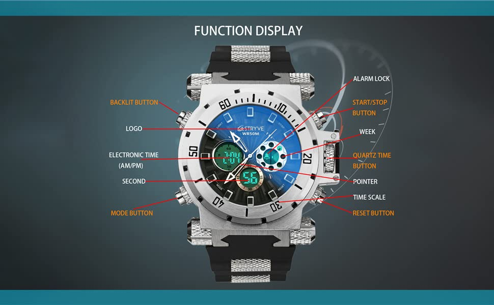 This product is a large-sized and heavier watch.Please purchase carefully, thank you.